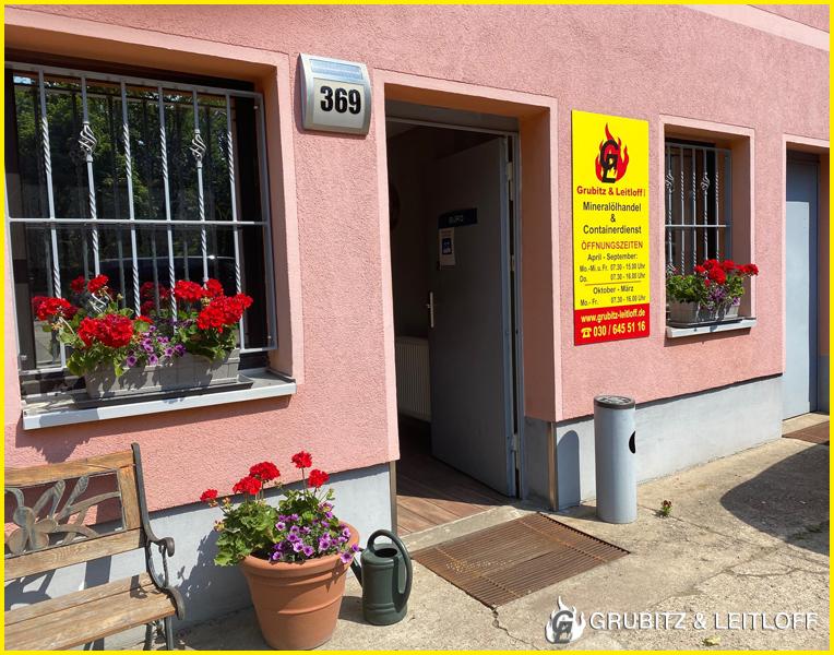 Büro-Eingangsbereich Standort Berlin-Friedrichshagen